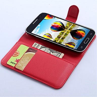 hoesje Voor Samsung Galaxy Core Prime Portemonnee / Kaarthouder / met standaard Volledig hoesje Effen Kleur PU-nahka