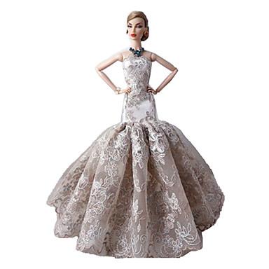 Party/Abends Kleider Für Barbie-Puppe Spitze Satin Kleid Für Mädchen ...