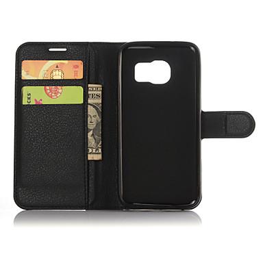 Недорогие Чехлы и кейсы для Galaxy S-Кейс для Назначение SSamsung Galaxy S9 / S9 Plus / S8 Plus Кошелек / Бумажник для карт / со стендом Однотонный