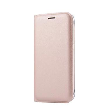 Недорогие Чехлы и кейсы для Galaxy S-Кейс для Назначение SSamsung Galaxy S7 edge / S7 / S6 edge plus Бумажник для карт / Флип Чехол Однотонный Твердый Кожа PU