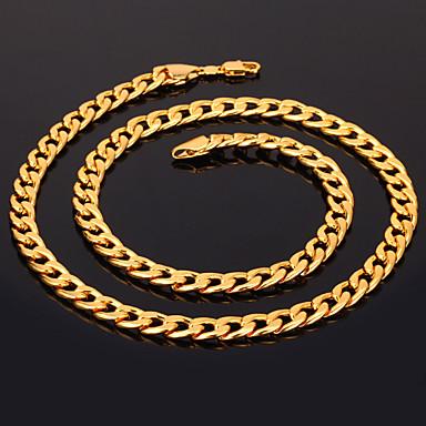 Pentru femei Lănțișoare Figaro lanț chunky femei Modă Dubai Placat Auriu 18K de aur umplut Argintiu Auriu Roz auriu Coliere Bijuterii Pentru Cadouri de Crăciun Nuntă Petrecere Ocazie specială Zi de