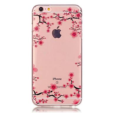 Недорогие Кейсы для iPhone-Кейс для Назначение Apple iPhone X / iPhone 8 Pluss / iPhone 8 Прозрачный / С узором Кейс на заднюю панель Цветы Мягкий ТПУ
