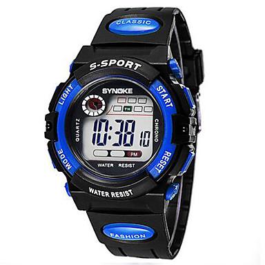 Dětské Sportovní hodinky Digitální LCD Kalendář Chronograf poplach Svítící  Pryž Kapela Černá 991948 2019 – €11.49 1bd9793bce