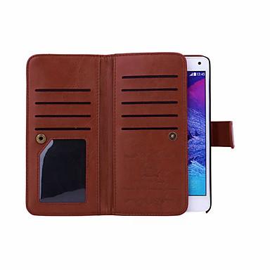 voordelige Galaxy Note-serie hoesjes / covers-hoesje Voor Samsung Galaxy Note 5 / Note 4 Portemonnee Volledig hoesje Effen PU-nahka