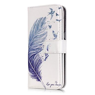 voordelige Galaxy S6 Edge Hoesjes / covers-hoesje Voor Samsung Galaxy S7 edge / S7 / S6 edge Portemonnee / Kaarthouder / met standaard Veren