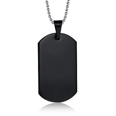Недорогие Ожерелья-Муж. Ожерелья с подвесками Кулоны Титановая сталь Черный Ожерелье Бижутерия Назначение Повседневные