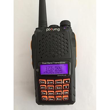 ieftine Walkie Talkies-BAOFENG UV-6 PLUS Portabil  / Piloane de Menținut Carnea Promter Voce / Dual Band / Ecran Dual Band 1.5KM - 3KM 1.5KM - 3KM 128 1800 mAh 7 W Statie emisie-receptie Radio cu două căi