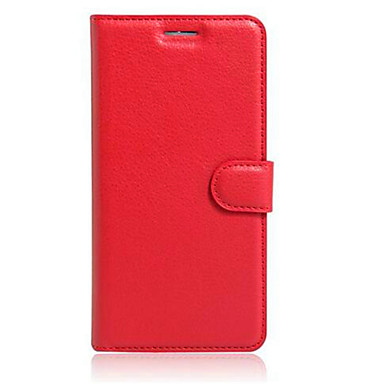 Недорогие Чехлы и кейсы для Motorola-Кейс для Назначение Moto G / Motorola / Мото Nexus 6 Мото Z / Moto X Play / Moto G4 Play Кошелек / Бумажник для карт / со стендом Чехол Однотонный Твердый Кожа PU