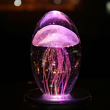 Недорогие Необычное LED освещение-ночной свет настольная лампа красочные медузы ночной свет роман хрустальные ремесла светодиодные ночные лампы световой атмосфере свет д