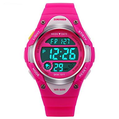 رخيصةأون ساعات النساء-SKMEI ساعة رياضية ساعة رقمية رقمي مطاط أسود / أزرق / الوردي 30 m مقاوم للماء المنبه رزنامه رقمي موضة - أسود أزرق زهري سنتان عمر البطارية / الكرونوغراف / مضيء / LCD / ساعة التوقف / Maxell626 + 2025