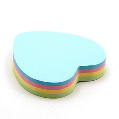 heart shape multicolor sticky note 100 pages 997139 2018 4 31