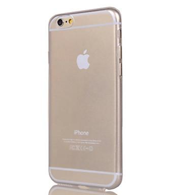 olcso Apple tartozékok-Case Kompatibilitás Apple iPhone 7 Plus / iPhone 7 / iPhone 6s Plus Átlátszó Fekete tok Egyszínű Puha TPU