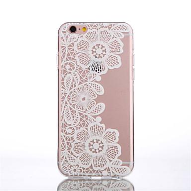 Недорогие Кейсы для iPhone 6-Кейс для Назначение Apple iPhone 6s Plus / iPhone 6s / iPhone 6 Plus Прозрачный / С узором Кейс на заднюю панель Мультипликация / Кружева Печать / Цветы Мягкий ТПУ