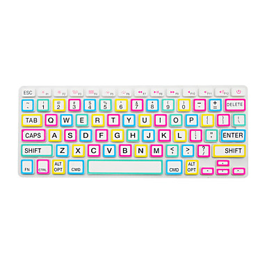 Bright Color Frame Silicone Keyboard Cover Skin for Macbook Air 13.3 ...