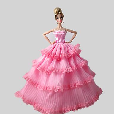 464d72afc09e3 حفلة   سهرة فساتين إلى Barbiedoll دانتيل   ستان فستان إلى لفتاة دمية لعبة  5065223 2019 – €7.19