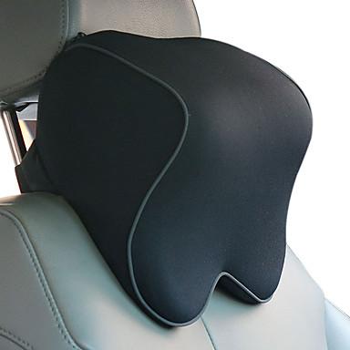 رخيصةأون إكسسوارات وأغطية مقاعد السيارات-مساند للرأس مصنوعة من القطن الأسود وظيفية مشتركة لجميع الموديلات مادة مسند رأس مقعد سيارة من القطن