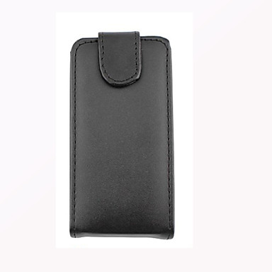 voordelige Galaxy S-serie hoesjes / covers-hoesje Voor Samsung Galaxy S7 edge / S7 / S6 Flip Volledig hoesje Effen PU-nahka
