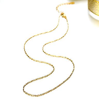 Недорогие Ожерелья-Муж. Жен. Ожерелья-цепочки Мода Медь Золотой Ожерелье Бижутерия Назначение Для вечеринок Повседневные Офис