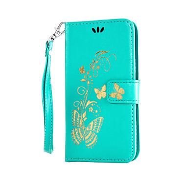 رخيصةأون LG أغطية / كفرات-غطاء من أجل LG K8 / LG / LG G4 LG G4 ستايلس / LS770 محفظة / حامل البطاقات / مع حامل غطاء كامل للجسم زهور قاسي جلد PU