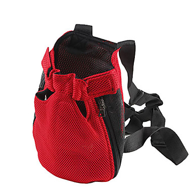 cheap Dog Supplies & Grooming-Dog Carrier Bag & Travel Backpack Front Backpack Portable Pet Baskets Nylon Solid Colored Purple Red Orange