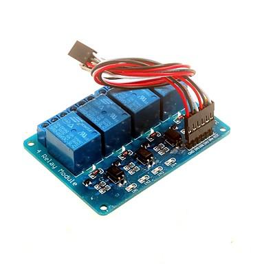 olcso Robotok és tartozékok-4-csatornás 5V relé modul optikai csatolóval DSP avr pic kar Arduino
