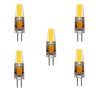 ieftine Becuri LED-ywxlight® 5pcs 5w 200-300lm g4 led bi-pin lumini cârlig cip 360 lumini unghi luminos înlocui 30w halogen g4 lumina reflectoarelor ac / dc12-24v