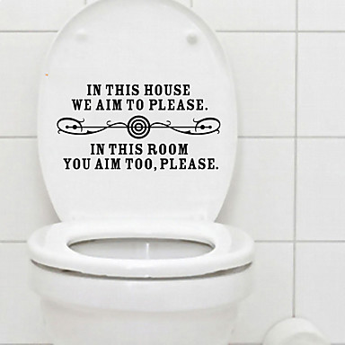 Toilet Stickers   Words U0026 Quotes Wall Stickers Still Life Living Room /  Bedroom / Bathroom