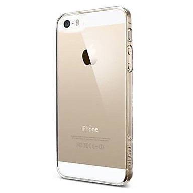 رخيصةأون 5S / SE أغطية أيفون-غطاء من أجل أيفون 5 / Apple iPhone SE / 5s / iPhone 5 نحيف جداً / شفاف غطاء خلفي لون سادة ناعم TPU