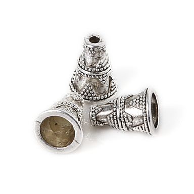 olcso Gyöngyök és gyöngyfűzés-DIY ékszerek 10Pcs Ezüst/ Fekete üveggyöngy DIY Nyakláncok Karkötők