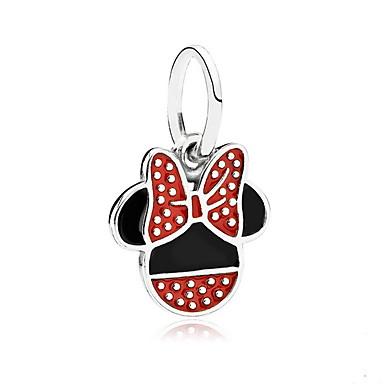 Χαμηλού Κόστους Φυλαχτά και μενταγιόν-Μενταγιόν Ποντίκι Ζώο χαριτωμένο στυλ Καρφίτσα Κοσμήματα Κόκκινο Για