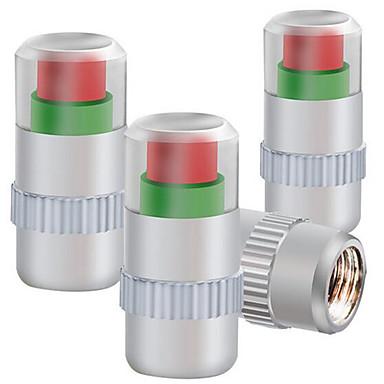 olcso Dekorációk-négy telepített fémsapkával abroncsnyomás-ellenőrző keréknyomás szelepsapka