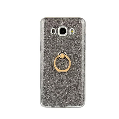 رخيصةأون حافظات / جرابات هواتف جالكسي J-غطاء من أجل Samsung Galaxy J7 (2016) / J5 (2016) / J3 (2016) حامل الخاتم غطاء خلفي بريق لماع ناعم TPU