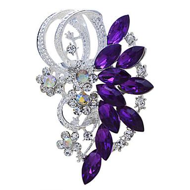 povoljno Broševi-Žene Broševi Markiza Vintage Moda Umjetno drago kamenje Broš Jewelry Crvena Plava Za Vjenčanje Party Special Occasion Rođendan Dar Dnevno