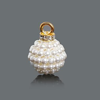 olcso Medálok és függők-Női Amulettek Függők Seed Pearls hölgyek Divat Gyöngy Hamis gyémánt Bross Ékszerek Kristály Kompatibilitás Napi / 10pcs