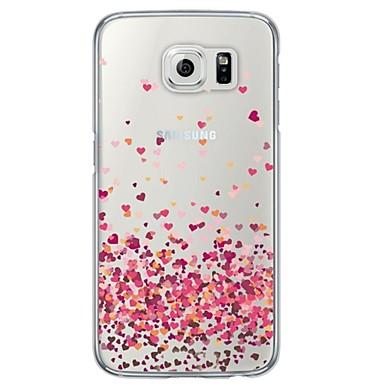 voordelige Galaxy S-serie hoesjes / covers-hoesje Voor Samsung Galaxy S6 / S5 / S4 Transparant / Patroon Achterkant Hart Zacht TPU