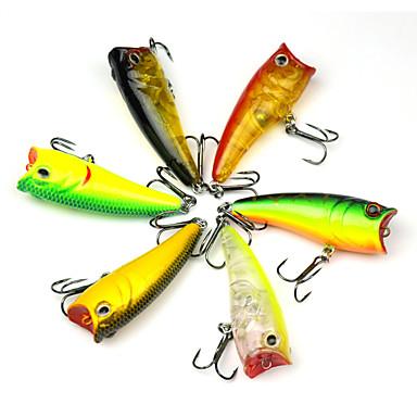 ieftine Cârlige Pescuit-6 pcs #D Bass Păstrăv Ştiucă Pescuit mare Aruncare Momeală Pescuit cu undițe tractate & Pescuit din barcă Plastic Dur