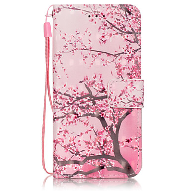 Недорогие Кейсы для iPhone 7 Plus-Кейс для Назначение Apple iPhone 6s Plus / iPhone 6s / iPhone 6 Plus Кошелек / Бумажник для карт / со стендом Чехол дерево Твердый Кожа PU