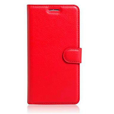 رخيصةأون أغطية-غطاء من أجل Alcatel Alcatel POP3 (5.5)OT5025 / Alcatel Pop Star 5022D / Alcatel PIXI 4 (3.5) حامل البطاقات / مع حامل / قلب غطاء كامل للجسم لون سادة قاسي TPU