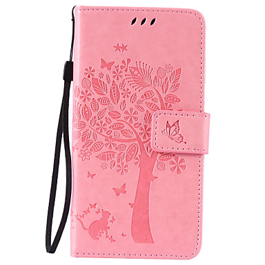 Недорогие Чехлы и кейсы для LG-Кейс для Назначение LG G3 Mini / LG K8 / LG LG V10 Кошелек / Бумажник для карт / со стендом Чехол дерево Твердый Кожа PU / LG G4 / LG K10