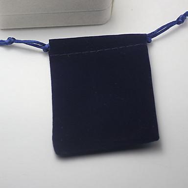 olcso Ékszer csomagolás és kiállítás-Ékszertáskák Anyag 1db Kék