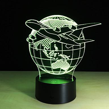رخيصةأون أضواء LED العصرية-1PC مسة 3 د أدى الملونة مصباح رؤية تغيير مصباح مكتبي جو هدية ضوء الليل اللون