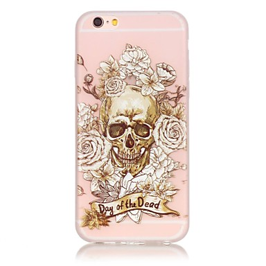 voordelige iPhone-hoesjes-hoesje Voor Apple iPhone 6s Plus / iPhone 6s / iPhone 6 Plus Glow in the dark Achterkant Doodskoppen Zacht TPU