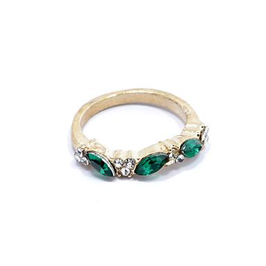 Pentru femei Inel de declarație Cristal Auriu Argintiu Ștras Aliaj femei Modă Cadou Zilnic Bijuterii Marchiză 3 piatră