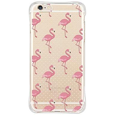 voordelige iPhone 8 hoesjes-hoesje Voor Apple iPhone X / iPhone 8 Plus / iPhone 8 Schokbestendig / Stofbestendig / Transparant Achterkant Flamingo / dier Zacht TPU