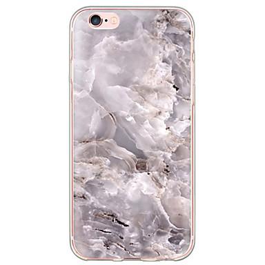 Недорогие Кейсы для iPhone X-Кейс для Назначение Apple iPhone X / iPhone 8 Pluss / iPhone 8 Ультратонкий / Полупрозрачный Кейс на заднюю панель Мрамор Мягкий ТПУ
