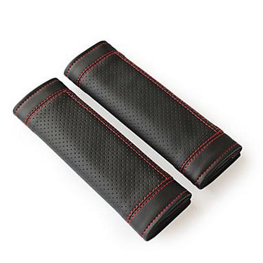 olcso Üléshuzatok és kiegészítők-A biztonsági öv fedele biztonsági öv Világosbarna / Piros / Fekete / vörös PU bőr Közös Kompatibilitás Univerzalno