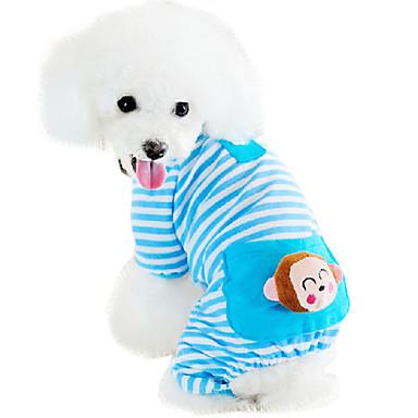 Chat chien combinaison pantalon pyjamas v tements pour chien bande dessin e jaune bleu rose - Lanceur de balles pour chien ...