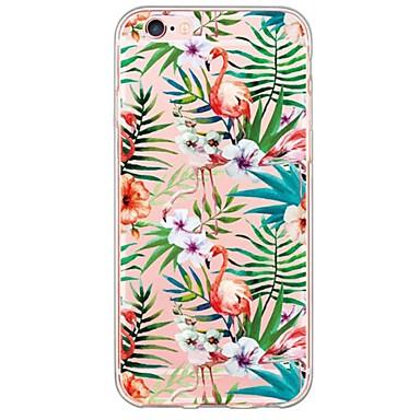 Недорогие Кейсы для iPhone X-Кейс для Назначение Apple iPhone X / iPhone 8 Pluss / iPhone 8 Ультратонкий / Полупрозрачный Кейс на заднюю панель Фламинго / Животное Мягкий ТПУ