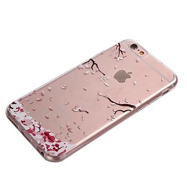 Недорогие Кейсы для iPhone-Кейс для Назначение Apple iPhone XS / iPhone XR / iPhone XS Max Прозрачный Кейс на заднюю панель Цветы Мягкий ТПУ