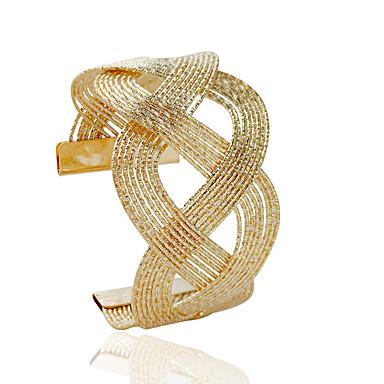 olcso Karkötők-Női Bilincs karkötők Divat Ötvözet Karkötő ékszerek Ezüst / Aranyozott Kompatibilitás